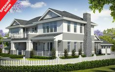 The Long Island - Constructive Media: Digital Studio - Renders - Animations - Digital Videos - Perth Western Australia Hamptons House, The Hamptons, Hamptons Kitchen, Architect House, Architect Design, Custom Home Builders, Custom Homes, Long Island House, Facade House
