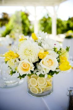 country yellow reception wedding flowers, wedding decor, wedding flower centerpiece, wedding flower arrangement, add pic source on comment and we will update it. can create this beautiful wedding flower look. Lemon Centerpieces, Wedding Centerpieces, Wedding Table, Wedding Reception, Our Wedding, Dream Wedding, Small Centerpieces, Bridal Table, Yellow Flower Centerpieces