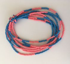 A 7-strand stretch bracelet strapped by a beaded string #etsyshop #seedbeads #stretchbracelet #summerpattern #colourful #summerbracelet Seed Bead Bracelets, Strand Bracelet, Bracelet Sizes, Seed Beads, Summer Bracelets, Summer Patterns, Stretch Bracelets, Beaded Necklace, Coral