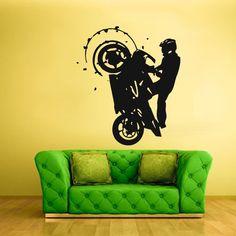 Wall Vinyl Sticker Decals Decor Art Bedroom Dirt Bike Stunt Riding Moto Motorcycle (Z1770) StickersForLife http://www.amazon.com/dp/B00F3XQZI0/ref=cm_sw_r_pi_dp_x2pfvb0K09S2H