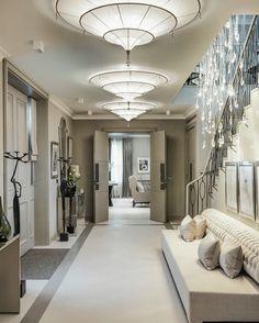 Grey hallway kelly hoppen