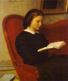The Reader (Marie Fantin Latour, the Artist's Sister) - Henri Fantin-Latour - 1861