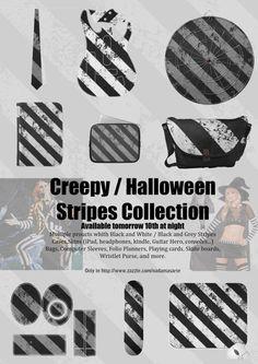 Creepy / Halloween Stripes Collection