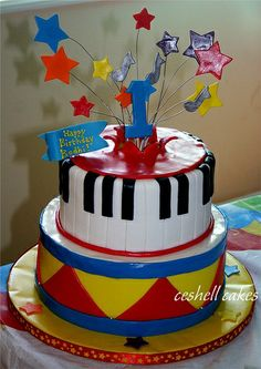 musical birthday party ideas   Child's Music Lover Cake by ceshell2, via Flickr