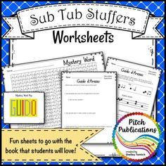 Most teachers would agree taking a sick or person day is harder than actually being at work. Writing music sub plans and preparing music sub tubs and music sub binders are so hard, especially in music and other specials! Use this plan and the work is done for you! 14 MB   12 pages Music Sub Plans, Music Lesson Plans, Music Lessons, Music Classroom, Music Teachers, Classroom Ideas, Music Worksheets, Music And Movement, Elementary Music