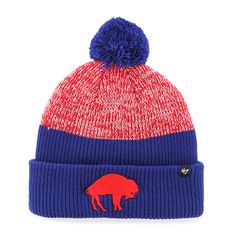 reputable site 047b9 8c276 where to buy buffalo bills backdrop cuff knit royal 47 brand hat d1f79 447a2