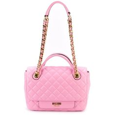 Moschino quilted tote (7.995 RON) ❤ liked on Polyvore featuring bags, handbags, tote bags, handbags totes, leather tote handbags, quilted leather tote, leather purse and leather tote purse
