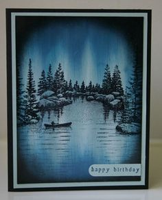 Northern Sky Stampscapes by annascreations - Cards and Paper Crafts at Splitcoaststampers