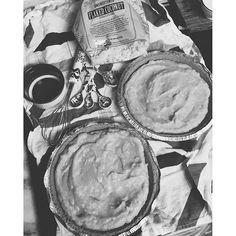 Almond-coconut cream pie on the blog tonight. My dads favorite.