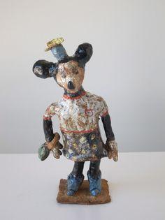 "Magdalena Suarez Frimkess ""Minnie Mouse"" 2014 stoneware and glaze 9 X 3 inches"
