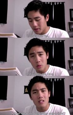 Nigahiga- Ryan Higa- 2,000,000 subscribers!- If roses are red, and violets are blue, then what the h*ll is the color violet?""