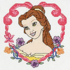 Disney Princess Cross Stitch, Belle, from thefind.com