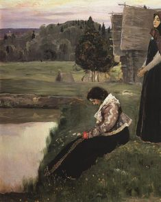 Thought, Mikhail Nesterov.  Russian (1862-1942)
