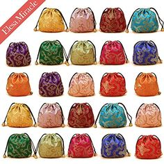 Elesa Miracle 24pcs Silk Brocade Jewelry Pouch Bag, Draws... https://www.amazon.com/dp/B016IMY1TO/ref=cm_sw_r_pi_dp_x_FmUgyb65763CP
