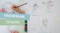 In this video Ana learns to draw a snowman using a circle template. We chose 3 circle shapes of different sizes and start with the head - the smallest circle. Draw A Snowman, Circle Template, Middle Parts, Circle Shape, Creative Play, Learn To Draw, Mathematics, Templates, Shapes