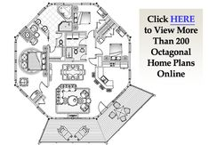 1000 ideas about octagon house on pinterest round house for Octagonal log cabin plans