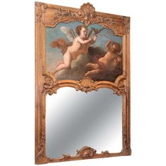 Antique French 18th Century Louis XV Trumeau   From a unique collection of antique and modern trumeau mirrors at https://www.1stdibs.com/furniture/mirrors/trumeau-mirrors/ Antique French 18th Century Louis XV Trumeau  Offered By Keils Antiques  $16,500