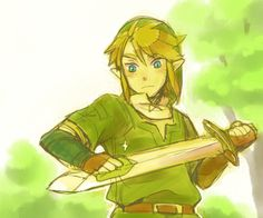 Even Link has to shine his sword once in a while