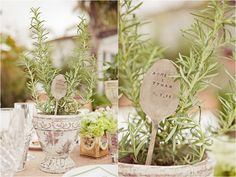 I like the rustic look and spoon with wedding date Inspired by Ashley's Vintage Garden and Blueberry Bridal Shower | Inspired by This Blog