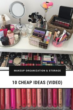 Let's talk about makeup organization & makeup storage! Today, I am taking you to my vanity table to show you how I organised my makeup, skincare and other items by using very affordable makeup organizers from IKEA, Daiso, pound-shop (dollar-shop) and even from the nearest supermarket! I am also showing you how to DIY makeup brush holder from a cotton swabs container.