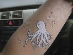 White Octopus tattoo octopus