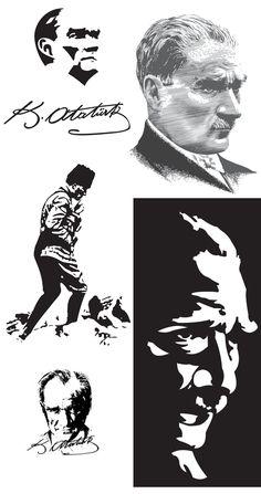 Mustafa Kemal Ataturk Silhouette [5 EPS File]