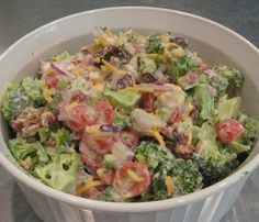 Can I say that I love a food?  If I am allowed, this is it.  Broccoli salad. I'm not into exact measurements with most dishes.  Customize as you like and consider the recipe more of …
