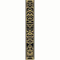 Art Deco 1 Peyote Bead Pattern, Bracelet Cuff, Odd Peyote, Seed Beading Pattern Miyuki Delica Size 11 Beads - PDF Instant Download