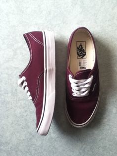 Bordeaux red vans I think I like sneakers more than a I like pumps