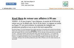 Kool Shen dans le Figaro.fr le 24 février 2016