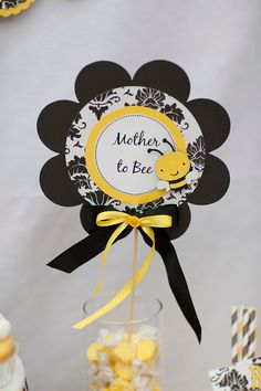 have this bee die cut. love the black/white toile pattern with the solid yellow contrast