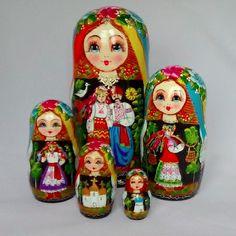 Ukrainian Nesting Doll Ukrainian Couple - 5-pcMatryoshka   Nesting DollsMore Pins Like This At FOSTERGINGER @ Pinterest