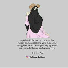 Aku pengen pake cadar,, tapi aku masih takut ... ,  #Aku #cadar #masih #pake #pengen #takut #tapi Muslim Quotes, Islamic Quotes, Islamic Cartoon, Hijab Cartoon, Love In Islam, Self Reminder, Quotes Indonesia, Islamic Pictures, Muslim Couples