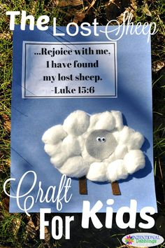 A fun and easy sheep craft for kids to help them remember the Parable of The Lost Sheep. Cotton ball sheep with googly eyes are adorable and cheap! Sunday School Crafts For Kids, Bible School Crafts, Bible Crafts For Kids, Sunday School Activities, Sunday School Lessons, Church Activities, Church Games, Bible Activities For Kids, Group Activities