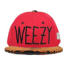 Cayler And Sons C AndS Weezy Animal Print Snapback Tiger Print Snapback Cap in Red 6691! Only $8.90USD