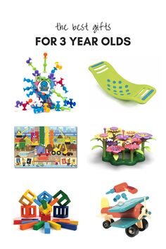 All of our favorite gifts and toys for 3 year olds and preschoolers! These educational toys will foster screen-free time and make a unique gift. We love the shop by age feature on Fat Brain Toys to find the perfect gift for girls and boys. Christmas Presents For 3 Year Olds, Gifts For 3 Year Old Girls, Toddler Christmas Gifts, Christmas Gifts For Boys, 3 Year Old Birthday Gift, Birthday Gifts For Boys, Best Toddler Toys, Best Toys, 3 Year Old Toys