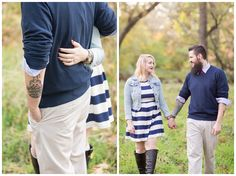 Fall Engagement Session under the trees