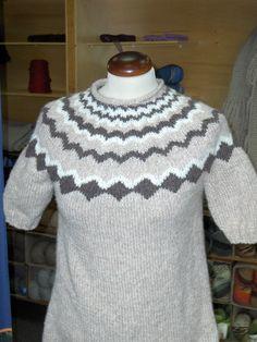 maglia con ferri circolari, sprone jacquard!