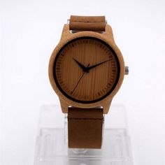 Genuine Leather Bamboo Bracelet Watch - InValuableHours