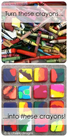 So easy! How to make upcycled crayons. Great quick and easy project for kids.