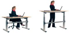 Sit or Stand Desk - a telescopic electric desk that operates with the touch of a button #office #homeoffice #ergonomics