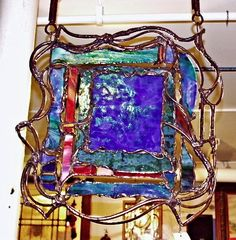 art glass and copper