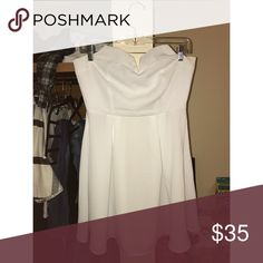 White, strapless dress white dress with small opening in back Tobi Dresses Strapless