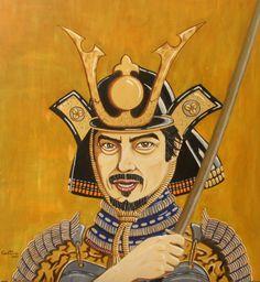 Samurai - Obra do pintor português Caetano Ramalho