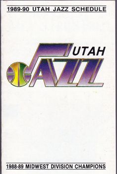 1988-89 UTAH JAZZ  COORS BEER BASKETBALL POCKET SCHEDULE  FREE SHIPPING #Schedule