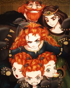 Princess Merida is the main character in an anime film that plays pixar and a leading role also in other anime films in 2012 Disney Magic, Disney Pixar, Disney Fan Art, Anime Disney, Disney E Dreamworks, Animation Disney, Film Disney, Disney Princess Art, Disney Princesses