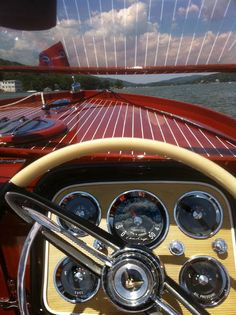 OOH. . .imagine boating around the lake in this beauty. . .