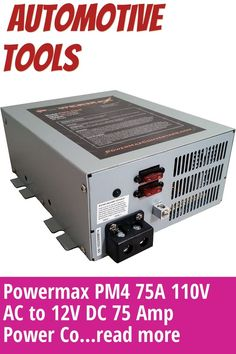 (This is an affiliate pin) Powermax PM4 75A 110V AC to 12V DC 75 Amp Power Converter with Built-in 4 Stage Smart Battery Charger Automotive Tools, Charger, Building, Amp, Stage, Buildings, Construction