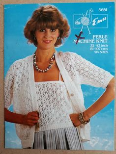 803f761e76721 Details about Vintage   retro machine knitting pattern Emu 3651 ladies lace  top   cardigan