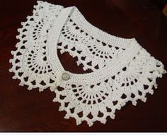 Patrones para Crochet: Cuellos Sueltos de Crochet  I love this collar.  I just need some instructions I can see and understand.